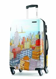 amazon black friday travel samsonite luggage nyc cityscapes spinner 20 blue print one size