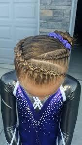 gymnastics picture hair style gymnastics hair braids gymnastics at home pinterest