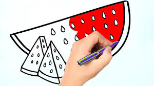 watermelon coloring page learn coloring page youtube