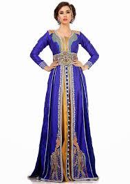 blue and mustard jacket moroccan wedding caftan dress