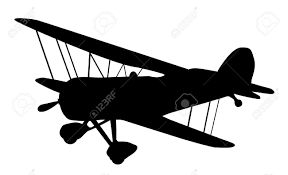 vintage airplane clipart black and white clipartxtras