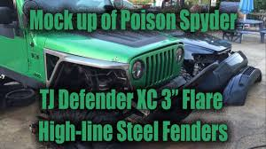 spyder jeep mock up of poison spyder jeep tj defender xc 3