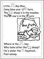 nursery rhymes coloring pages printable activities 1