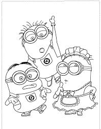 minion character boy coloring pages despicable