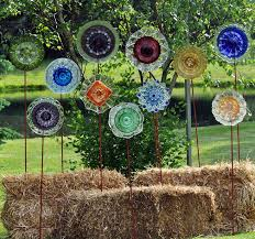 Upcycle That - innovative glass garden decor vintage glass garden upcycle that