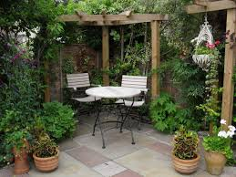 backyard garden and patio house design with various vegetable