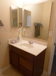 Bathrooms Mirrors Ideas by Bathroom Mirror Re Vamp Part 1