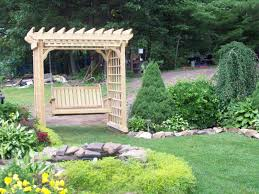 small arbor swing u2013 outdoor decorations