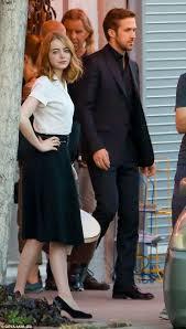 Ryan Gosling Emma Stone Couple Film | ryan gosling works up a sweat chasing emma stone la la land scene