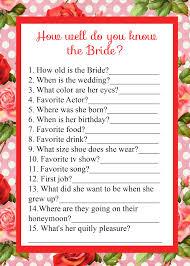bridal shower groom questions bridal shower melindy
