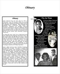 Templates For Funeral Program Sample Obituary Program Templates 7 Free Documents Download In