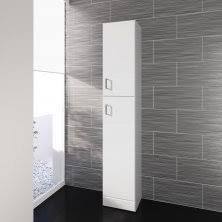 White Gloss Tallboy Bathroom Cabinet Tall Bathroom Cabinets Tall Free Standing Bathroom Cabinets