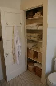 bathroom closet shelving ideas towel closet depth thesecretconsul com