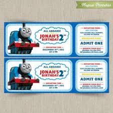 thomas train ticket printable birthday ticket invitation card