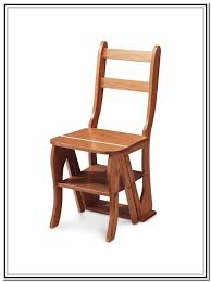 wooden folding step stool chair home design ideas