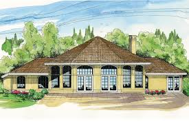 Spanish Homes Plans by Spanish Style House Plans Santa Ana 11 148 Associated Designs