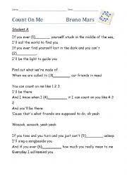 Lyrics To Count On Me Bruno Mars Worksheets Songs Worksheets Page 548