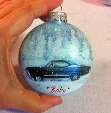 decorate your tree with painted supernatural ornaments