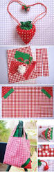 diy strawberry shopper bag sewing tutorial if you love to make