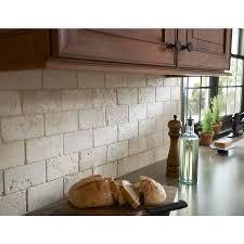 natural stone kitchen backsplash shop anatolia tile 8 pack chiaro tumbled marble natural stone wall