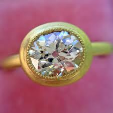 oval cut diamond 1 15ct antique oval cut diamond chunky bezel ring jewels by grace