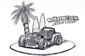 jeep cartoon drawing jeep wrangler yj rod sebastian motsch