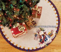 patriotic santa 43 bucilla felt tree skirt kit 85447