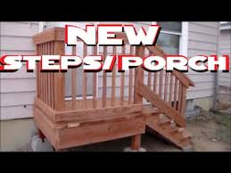 How To Build A Wood Awning Over A Deck How To Build Freestanding Porch Steps Home Depot Diy Youtube