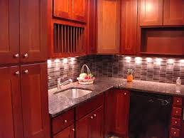 Cherry Kitchen Cabinets With Granite Countertops Alluring Red Cherry Wood Shaker Kitchen Cabinets Come With Cream