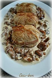 cuisiner les paupiettes paupiettes de veau sauce aux girolles et châtaignes céci bon