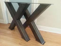 chunky wood table legs metal table legs 4 steel table legs oversize x metal table legs