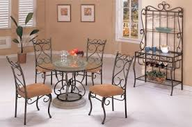 wrought iron dining table set brilliant wrought iron dining room table and chairs 2746 wrought
