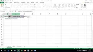 return sheet name into a cell excel formula youtube