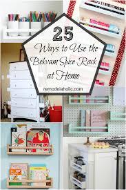 remodelaholic 9 cool wood projects november link party richard felt 25 ways to use ikea bekvam spice racks at home