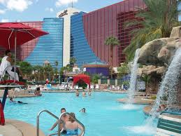 swimming pool at the rio hotel in las vegas