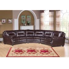 Curved Sectional Sofa Leather Breakthrough Curved Leather Sectional Sofa Venice Chocolate Brown