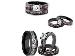 Black And Pink Wedding Rings by Endless Love Camo Wedding Bands Rings Collection On Ebay