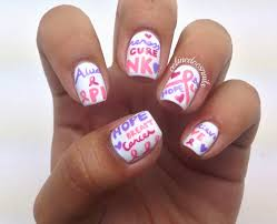 nails by celine breast cancer awareness nail art