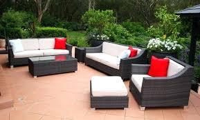 Outdoor Rattan Garden Furniture by Rattan Effect Patio Furniture Set 4 Seats Wicker Rattan Outdoor