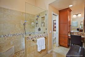 seattle doorless shower design bathroom contemporary with neutral