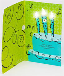 american greetings new cards let recipients out candles