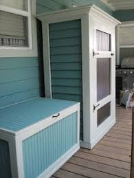 Outdoor Storage Bench Diy by Outdoor Storage Cabinet Finished Citronella Candles Pergolas
