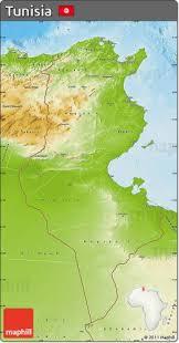 tunisia physical map free map of tunisia holidaymapq