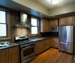 Modern Backsplash Kitchen by Stunning Backsplash Kitchen Design With Brown Cabinet Kitchen