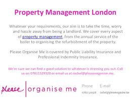 property management services please organise me