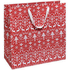 christmas gift bag scandi large christmas gift bag christmas