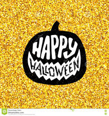 halloween gold happy halloween party banner with gold typography stock vector