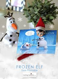 disney frozen movie elf shelf free printable