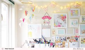 Pink Craft Room - craft room tour elsie robinson pink paislee