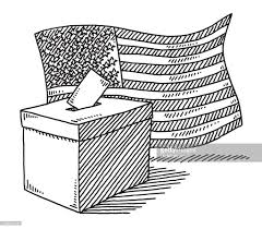 Black And White American Flag Ballot Box American Flag Drawing Vector Art Getty Images